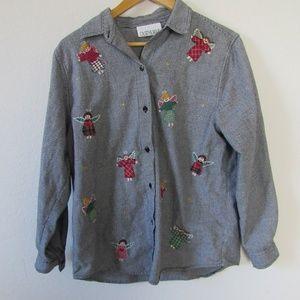 Little Angels button down shirt, size medium